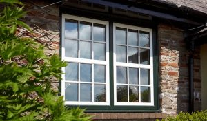 Dual colour uPVC casement window
