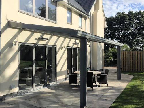 Grey uPVC veranda