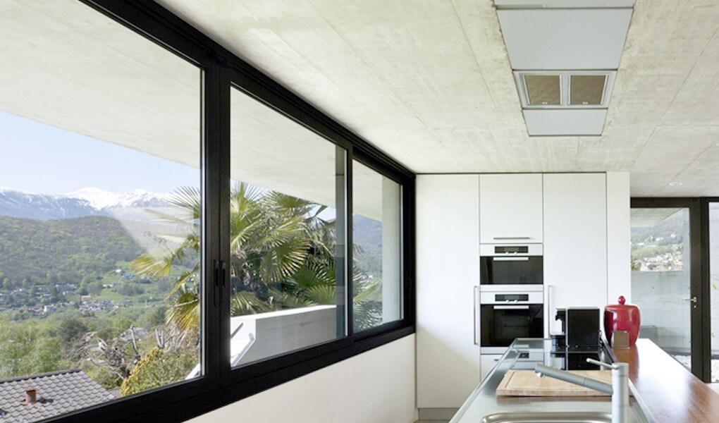 Black aluminium casement windows installation