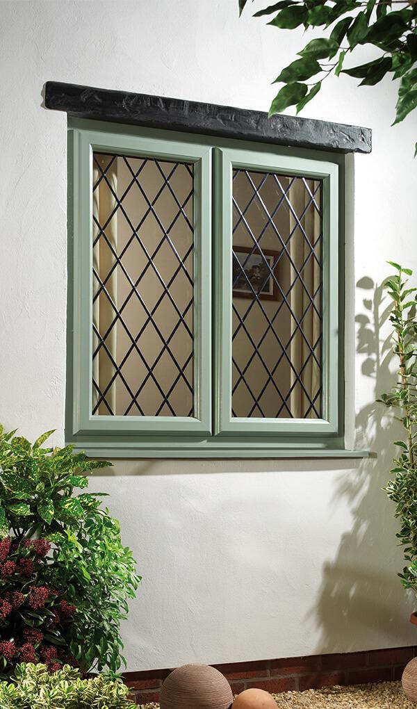 Chartwell green uPVC casement window