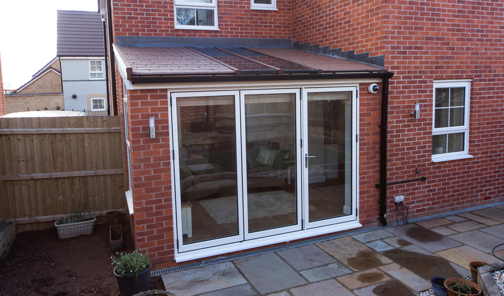 Lean To conservatory with a Ultraroof tiled roof