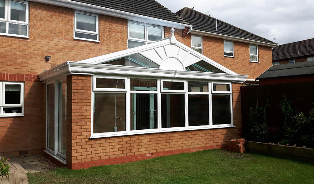 Orangery with a gable roof