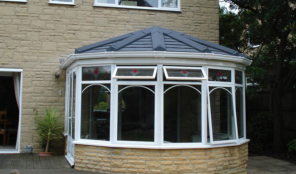 Tiled Victorian conservatory
