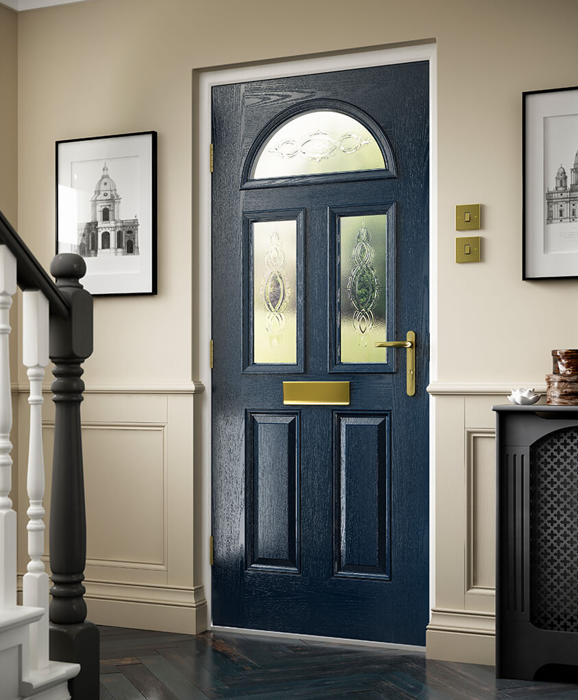 Blue traditional composite door interior view