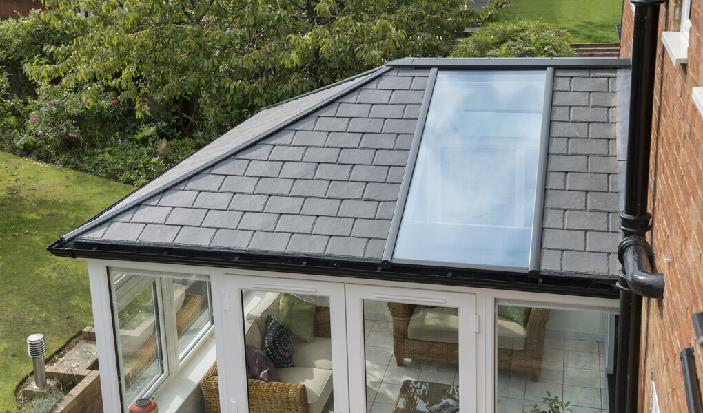 uPVC conservatory Ultraroof close up
