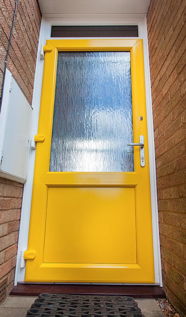 Yellow uPVC entrance door