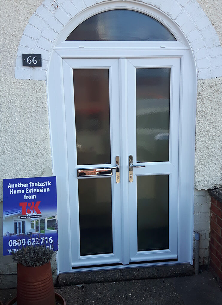 uPVC french doors with custom windows