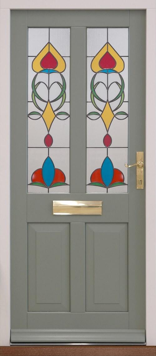 Traditional Entrance Door pebble grey