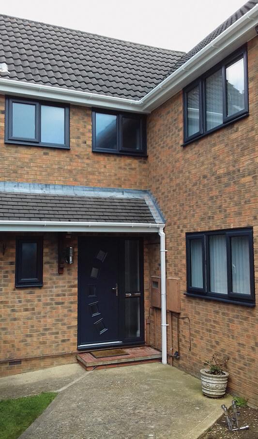 anthracite grey windows and door