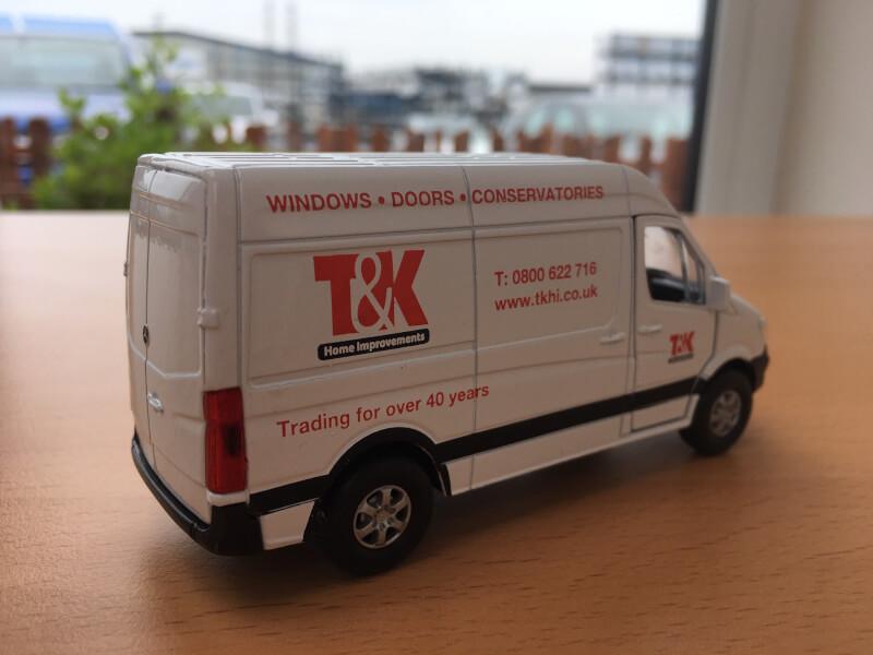 T&K toy van