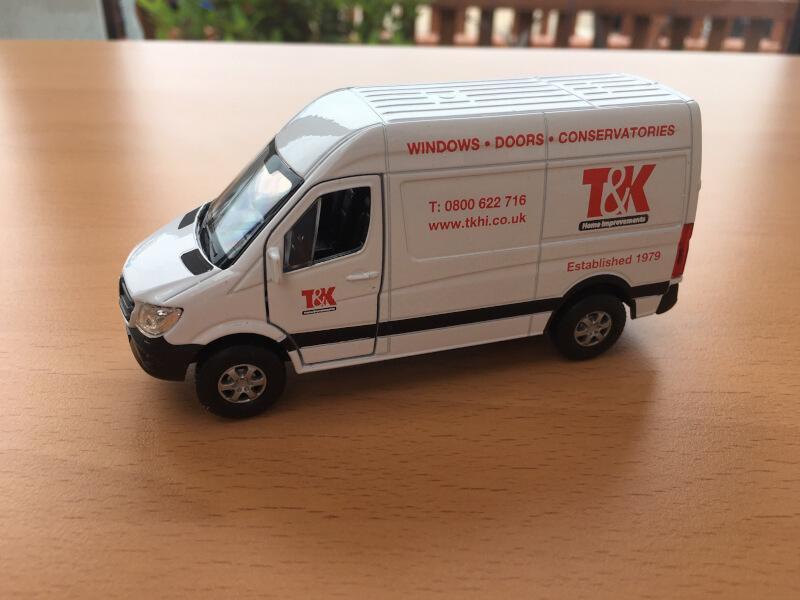 T&K toy van promotional offer