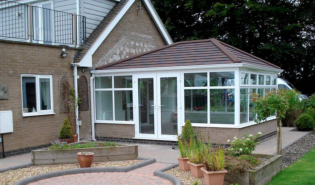 Edwardian tiled conservatory