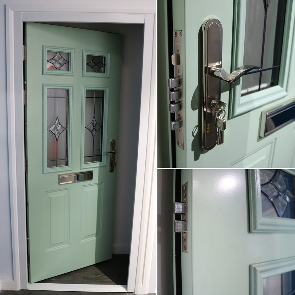 Chartwell Green steel door