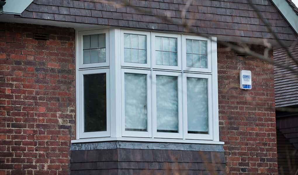 Bay white timber casement windows