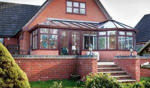 Rosewood uPVC Shaped conservatory