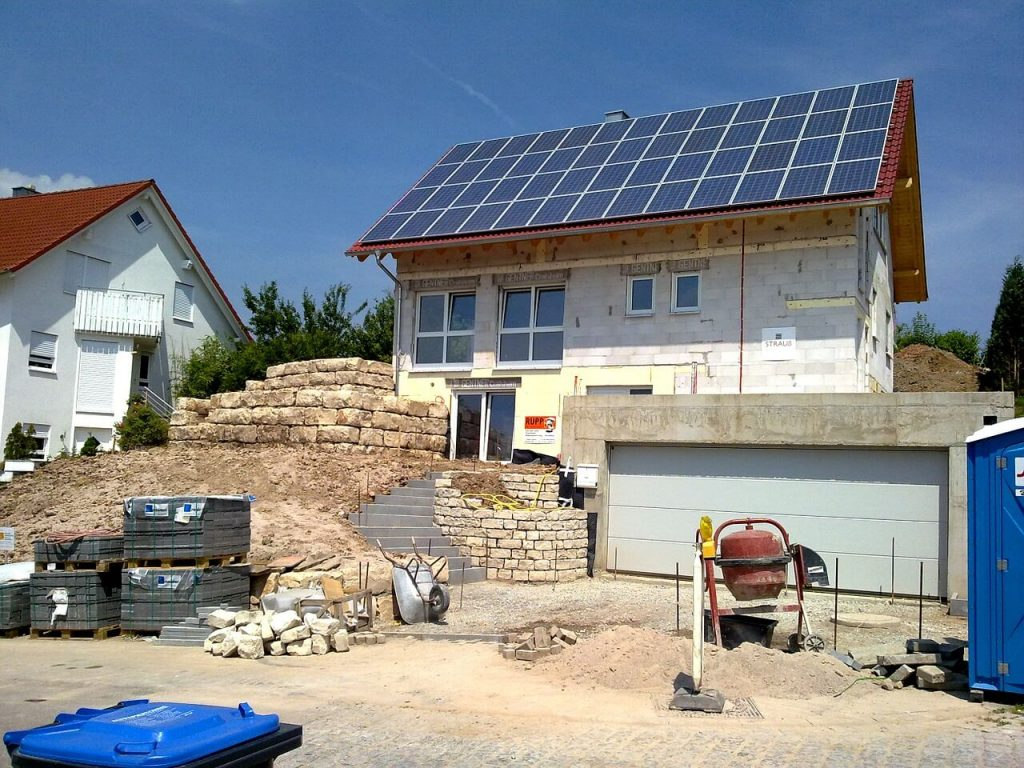 Passive house being built