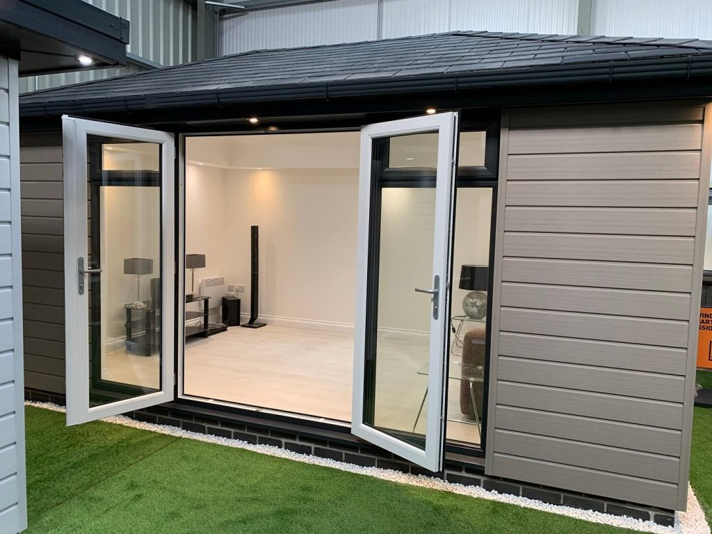 Large garden room with French doors