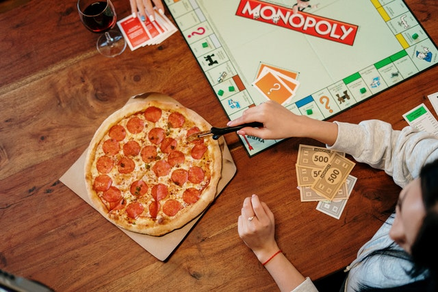 monopoly and pizza