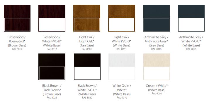 wood effect colours