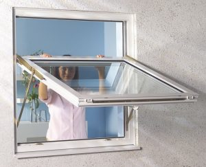 uPVC fully reversible window